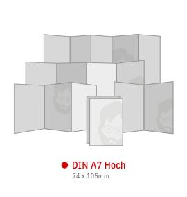 DIN A7 Hoch