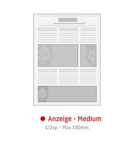 Anzeige Medium