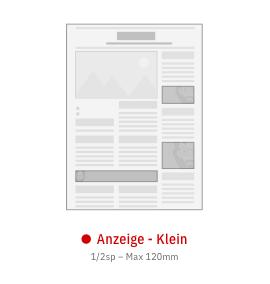 Anzeige Klein